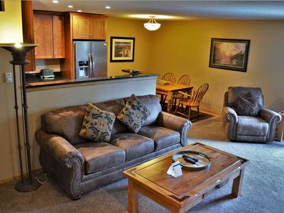 Photo for Gorgeous 2 Bed, 2 Bath Slopeside Condo, Blocks from Main Street