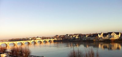 Photo for Large apartment overlooking the Loire and the roofs of the old Saumur