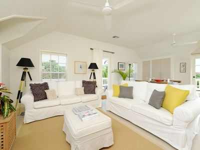 Photo for Peach House: Bright & Sunny Suite with Wrap-Around Decks, Walk to Town, Beach