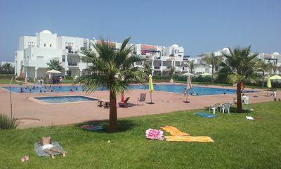 Photo for Magnificent Apprt, 3 bedrooms, 1 living room, garden, terrace, swimming pool, unlimited Wi-Fi.