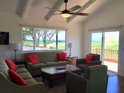 Photo for Ocean View home with central a/c - Walk To Downtown Paia and Beaches
