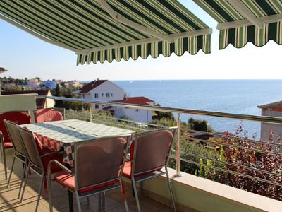 Photo for Three bedroom apartment with terrace and sea view Ražanj (Rogoznica)