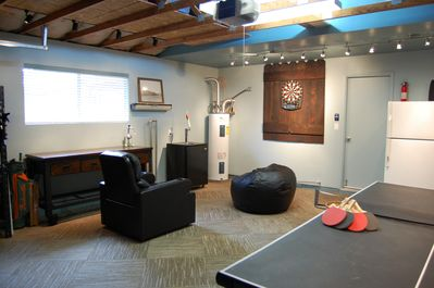 Our new game room, a comfortable fun place to hang out and have a blast