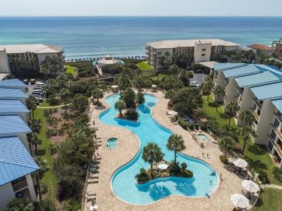 Photo for Pool Front at High Pointe Resort - 2 Bikes - Ground Floor Unit - `Beach Blessing`