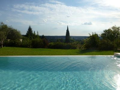 Photo for Aix- Villa 200 m² 8-10 pers. - Panoramic view - infinity pool - quiet gd