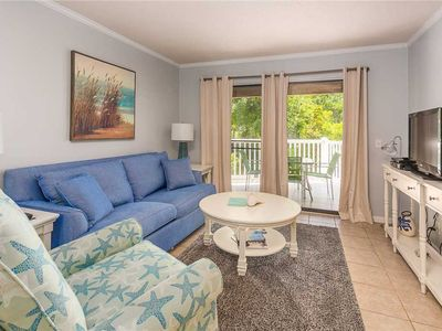 Photo for Pet Friendly Oceanfront Condominium w/Balcony, Pool and Boardwalk to Beach.