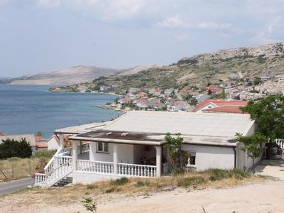 Photo for Apartment in Metajna (Pag), capacity 2+4