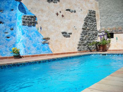 Photo for Quiet village house, central and comfortable with garden and heated pool, garage