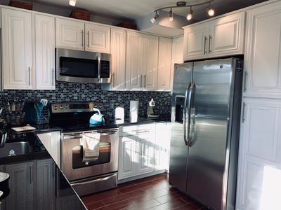 Fully equipped and renovated kitchen.