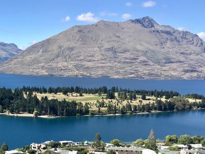 Photo for Spectacular Lake and Mountain Views andamp; Walk to Town!