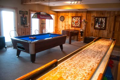 Spend hours in the games room with pool, foozball, shuffle board and darts