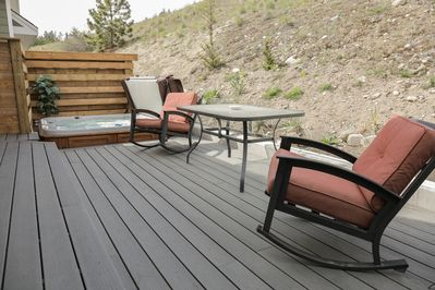 Back deck gets both sun and shade. The best of both worlds!