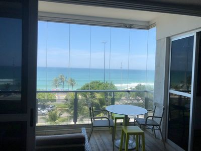 Photo for Beautiful 3 bedroom with balcony, facing the beach. Post 6 of Barra