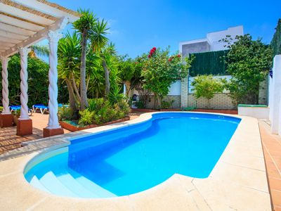 Photo for This 5-bedroom villa for up to 11 guests is located in Nerja and has a private swimming pool, air-co