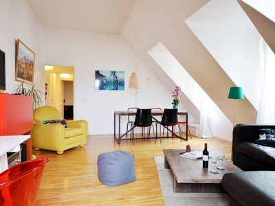 Photo for Bastille Atypical apartment in 11ème - La Bastille with WiFi, private parking & lift.