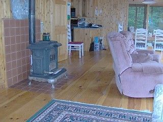 living area and weoodstove