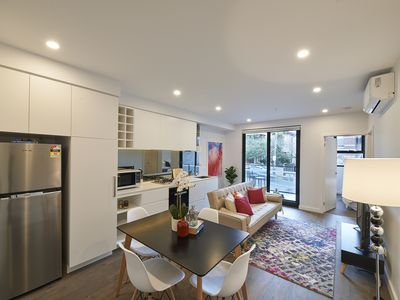 Photo for A Splash of Pink, Modern Living at its Best in St Kilda, Short Walk to Beach