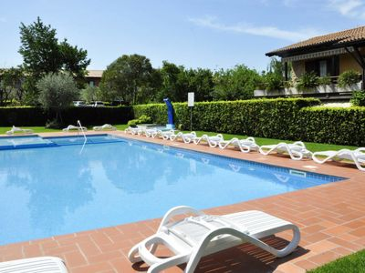 Photo for Lazise Apartment, Sleeps 4 with Pool, Air Con and Free WiFi