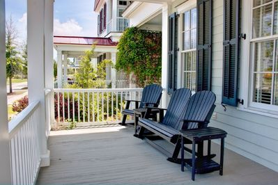 """Relax on the """"Charleston"""" style Porches."""