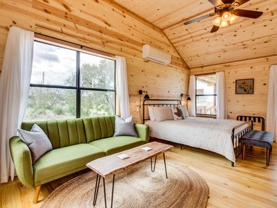 Photo for Brand new, dog-friendly cabin w/ kitchenette - in the heart of wine country