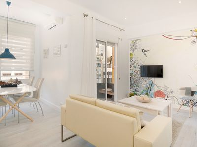 Photo for Bright apartment in the center of Barcelona in a pedestrian street.