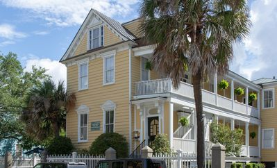 """Historic """"yellow house"""" on St Philip Street.  Apartment is on 2nd floor, rear."""