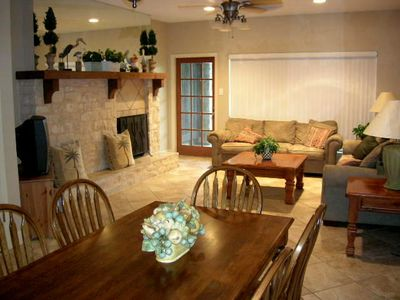 Photo for Beautifully Updated Comal Riverfront 2-2.5 Condo - Across from Schlitterbahn!