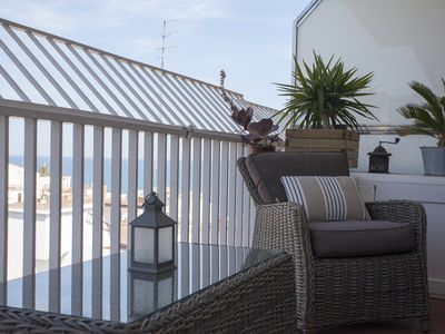 Photo for Bright apartment, with sea view, in the center of Sant Pol de Mar