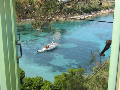 Photo for Vilavala: Nestling in fragrant green pines above sparkling blue Aegean waters