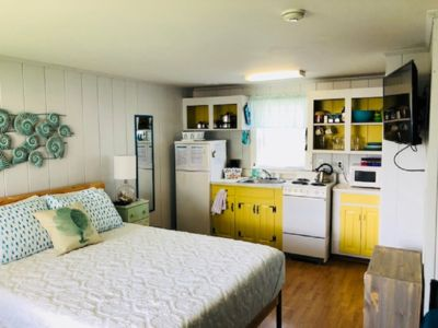 Photo for Walk to the beach! Relax! This studio includes linens & a fun outdoor space!