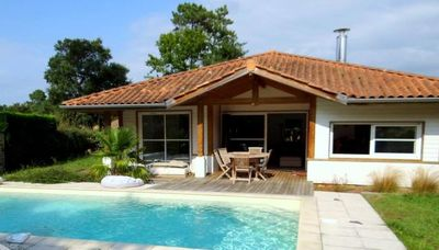 Photo for SPACIOUS VILLA 6/8 PEOPLE WITH HEATED SWIMMING POOL AND WIFI, GOLF AND BEACH WALK.