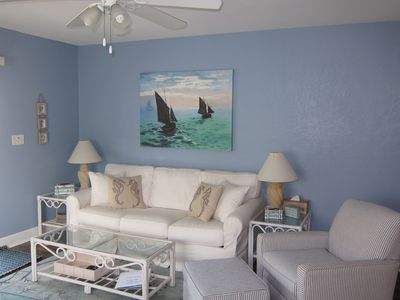 Photo for Booking Spring/Summer 2019 Gulf Views- 2BD/2BA WIFI/Beach Chairs/Cart included!