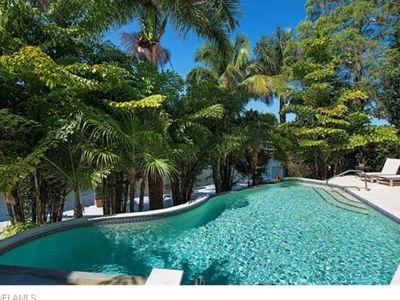 Photo for Short Walk to Beach and Downtown Naples, Coveted Aqualane Shores Pool Home