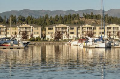 Photo for Gorgeous Townhome on private marina, with lake, mountain and golf course views