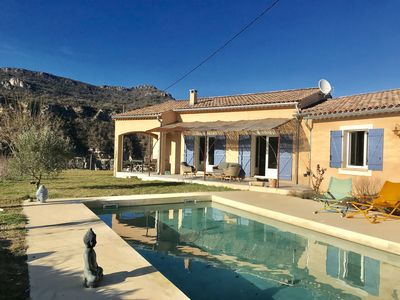 Photo for Stylish 4 bed villa with private pool, air con & panoramic views