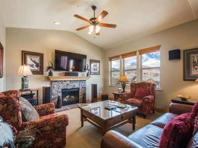 Photo for FREE Ski Rental! Great for Families - 2 Queen Suites, Eat In Kitchen, Fireplace & 4 Mins to Ski Lift
