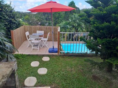 Photo for Beautiful bungalow with pool access