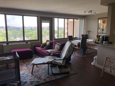 Photo for Comfy High Rise next to Metro (whole apartment/Baby Friendly!!!)