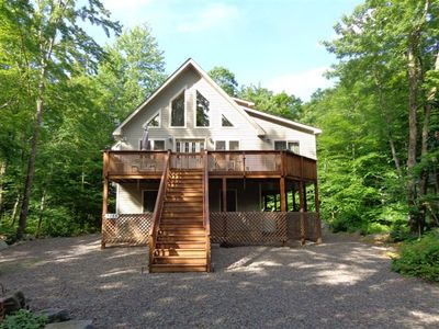 Photo for Spectacular Chalet! 2 Master BR's w/Baths, hot tub, fire pit. Near lake and pool