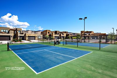 Pickleball Courts - Included in the amenities are two pickleball courts.  Pickleball is a rising competitive sport that combines the best of tennis and ping pong.