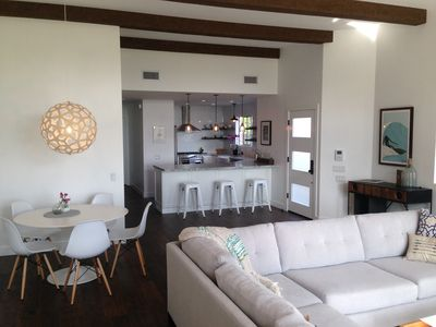 Modern and comfortable great room with all new everything on 1st floor