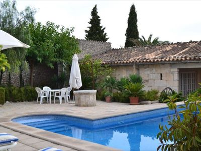 Photo for Charming country house in the beautiful north of Mallorca - Campanet with private pool