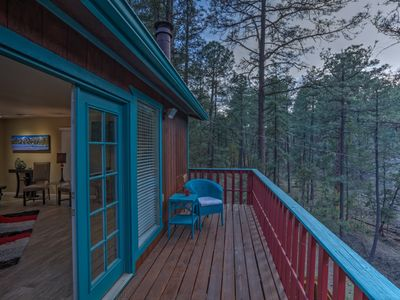 Photo for Treetop Hideaway - Beautiful retreat w/ 3 decks, hot tub & peaceful ambiance!