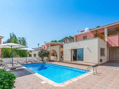 Photo for Med View Villa- This villa has a large private pool, beautiful sea views & WI-FI