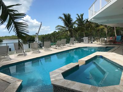 Photo for Bayside 5BR home with pool, dockage, and great sunsets.   PERFECT for families!