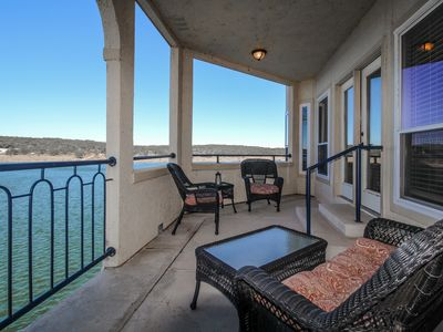 Photo for Dog-friendly lakefront condo w/shared hot tub & pool plus lake access!