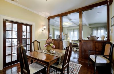 The Dining Room - The dining room table is a beautiful antique.