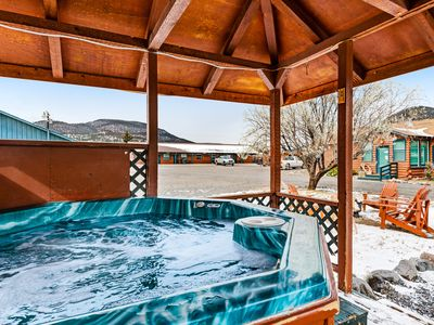 Photo for Cozy, dog-friendly log cabin w/ shared hot tub - close to skiing & hiking