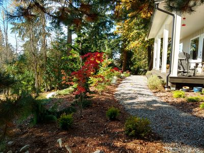 Photo for Pleasant house with large trees and view of Vancouver Island