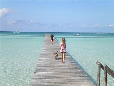 The Long Dock in front of the house . Play ground for a salt water vacation